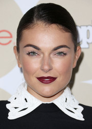Serinda Swan's berry-hued lips looked striking against her pale complexion when she attended People's Ones to Watch party.