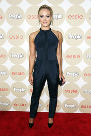 Peta Murgatroyd oozed a cool vibe in a sleeveless blue jumpsuit during People's Ones to Watch party.