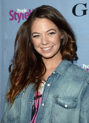 Analeigh Tipton's long wavy hair looked a little disheveled when she attended the People StyleWatch Denim Awards.