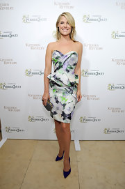 Ali's floral peplum dress was both sweet and mature at the release of her new cookbook.
