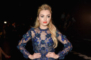 Peyton List Embroidered Dress