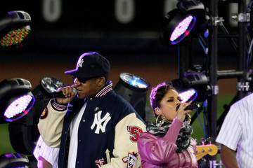 Alicia Keys Jay-Z Philadelphia Phillies v New York Yankees, Game 2