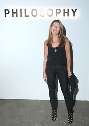 Nina Garcia's black strappy sandals provided a sexy finish to her simple tank and skinnies combo at the Philosophy 2010 presentation.