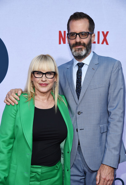 More Pics of Patricia Arquette Buckled Purse (1 of 8) - Buckled Purse Lookbook - StyleBistro [green,red,yellow,eyewear,suit,fashion,premiere,event,outerwear,facial hair,patricia arquette,eric white,photo call,california,hollywood,egyptian theatre,netflix,otherhood,l,photo call]