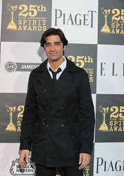 Gilles Marini looked timelessly classic in his black trenchcoat at the 25th Film Independent Spirit Awards in LA.