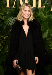 Ali Larter layered a little black dress under a fur-trimmed cape for the Piaget Independent Film celebration.