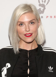 Paisley Grey wore a gorgeous ice-blonde lob to the premiere of 'The Pistol Shrimps.'