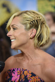 Jane Krakowski looked cute with her partially braided bob at the New York premiere of 'Pixels.'