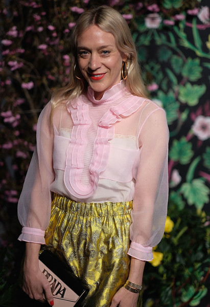 More Pics of Chloe Sevigny Strappy Sandals (2 of 7) - Heels Lookbook - StyleBistro [clothing,pink,yellow,fashion,blond,blouse,long hair,top,fashion accessory,shorts,chloe sevigny,new york city,planned parenthood,spring studios,spring into action gala]