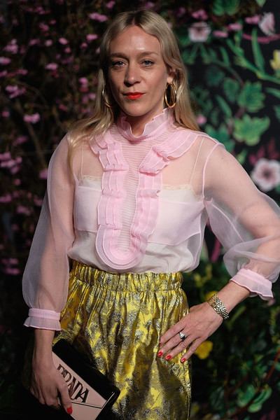 More Pics of Chloe Sevigny Strappy Sandals (1 of 7) - Heels Lookbook - StyleBistro [clothing,fashion,pink,yellow,blond,fashion show,fashion model,blouse,shorts,fashion design,chloe sevigny,new york city,planned parenthood,spring studios,spring into action gala]