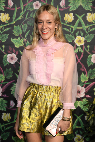 More Pics of Chloe Sevigny Strappy Sandals (5 of 7) - Heels Lookbook - StyleBistro [clothing,shorts,yellow,fashion,blond,spring,footwear,dress,waist,blouse,chloe sevigny,new york city,planned parenthood,spring studios,spring into action gala]