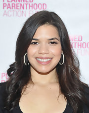 America Ferrera wore her long hair in soft waves while attending the 2012 Election and Why It Matters event.