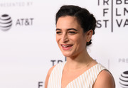 Jenny Slate kept it cute and classic with this braided updo at the 2019 Tribeca Film Festival.