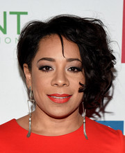 Selenis Leyva looked punky with her messy curls at the Point Honors Gala.