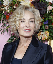 Jessica Lange sported a bouncy curly bob at the New York premiere of 'The Politician.'