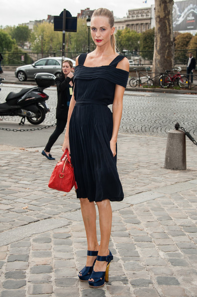 Poppy Delevingne Off-the-Shoulder Dress