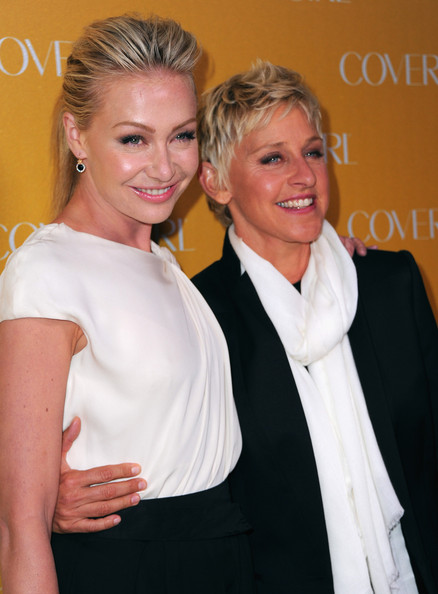 Portia de Rossi Dangling Diamond Earrings