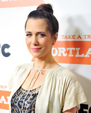 Kristen Wiig wore her hair in a cute classic bun at the premiere screening of 'Portlandia.'
