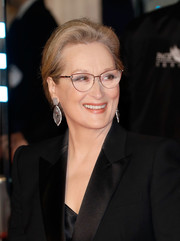 Meryl Streep gathered her hair into a loose chignon for the European premiere of 'The Post.'