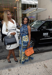 Laverne Cox kept up the elegance with a black Hermes Kelly.