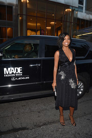 Gabrielle Union was sexy-glam in a low-cut beaded LBD at the Lexus Design Disrupted event.