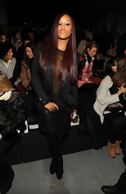 Eve's embroidered black skirt suit at the 2013 Prabal Gurung fashion show was one elegant number!