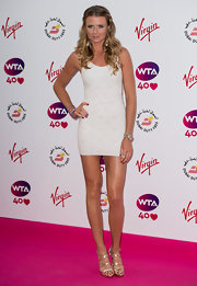 Daniela Hantuchova flaunted her super-slim frame in a barely-there mini dress during the pre-Wimbledon party.