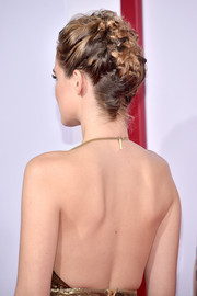 Zoey Deutch rocked an elaborate braided updo at the premiere of 'Why Him?'