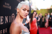 Kota Eberhardt rocked a silver-dyed pixie at the premiere of 'Dark Phoenix.'