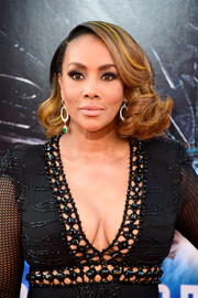 Vivica A. Fox sported a flawlessly styled curled-out bob at the premiere of 'Independence Day: Resurgence.'
