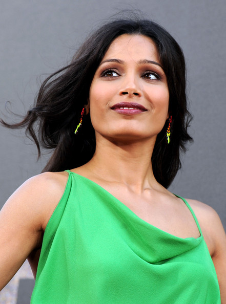 More Pics of Freida Pinto Medium Curls (1 of 65) - Freida Pinto Lookbook - StyleBistro