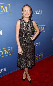 Brie Larson brought major sparkle to the premiere of 'Room' with this fully sequined dress by Rodarte.