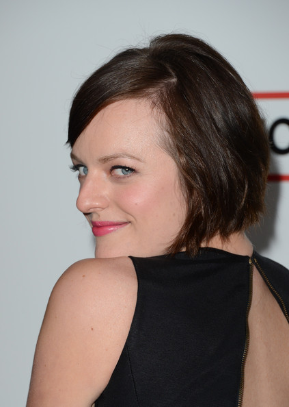 More Pics of Elisabeth Moss Little Black Dress (1 of 30) - Elisabeth Moss Lookbook - StyleBistro