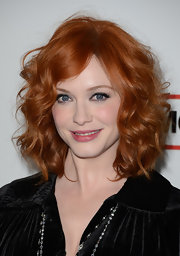 Christina Hendricks chose a subtle pink lip to bring out the rosy color in her cheeks while the star walked the red carpet.
