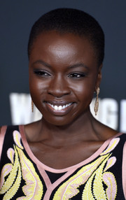 Danai Gurira attended the premiere of 'The Walking Dead' season 4 wearing a close-cropped curly 'do.