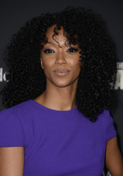 Sonequa Martin-Green looked fab at the 'Walking Dead' season 4 premiere with her voluminous curls.