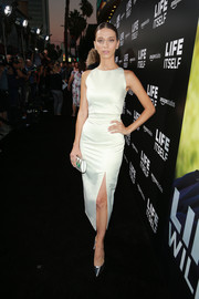 Angela Sarafyan kept it simple in a fitted white crop-top by Ester Abner at the premiere of 'Life Itself.'