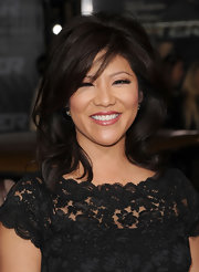 Julie Chen showed off a voluminous medium length hairstyle while attending the premiere of 'Faster'.