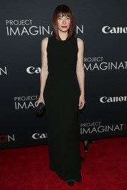 Bryce Dallas Howard was all about simple elegance in this sleeveless black column dress during Canon's Project Imaginat10n Film Festival.