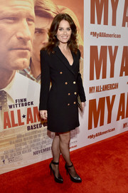 Robin Tunney looked seriously chic in a double-breasted blazer dress during the premiere of 'My All American.'