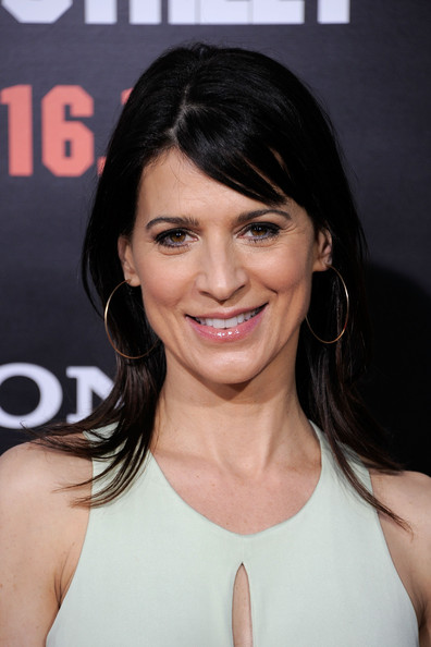 Perrey Reeves' Long Straight Cut with Bangs