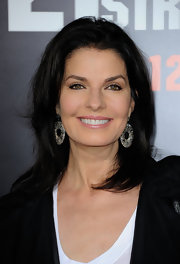 Sela Ward arrived at the premiere of '21 Jump Street' wearing her hair in long sleek layers.