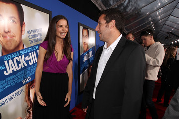 "Adam Sandler Katie Holmes Premiere Of Columbia Pictures' ""Jack And Jill"" - Red Carpet"