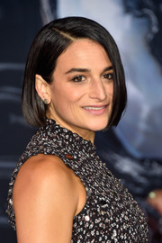 Jenny Slate chose a pair of gemstone studs to finish off her look.