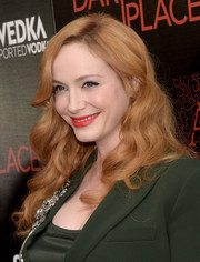 Christina Hendricks attended the premiere of 'Dark Places' wearing her signature long red curls.