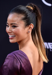 Jamie Chung sported an ombre high ponytail at the 'Sin City: A Dame to Kill For' premiere.