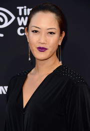 Michelle Wie rocked purple lipstick at the 'Sin City: A Dame to Kill For' premiere.