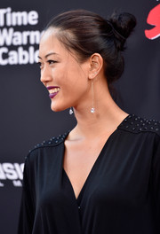 Michelle Wie attended the 'Sin City: A Dame to Kill For' premiere wearing a cute twisted bun.
