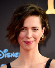 Rebecca Hall fixed her hair into a wavy bob for the premiere of 'The BFG.'
