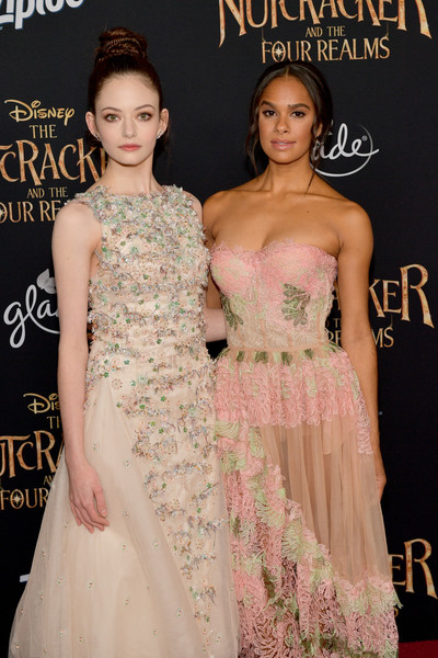 More Pics of Mackenzie Foy Braided Bun (1 of 37) - Updos Lookbook - StyleBistro [the nutcracker and the four realms,dress,hair,shoulder,clothing,fashion model,fashion,gown,hairstyle,haute couture,beauty,misty copeland,mackenzie foy,ray dolby ballroom,california,hollywood,disney,premiere,premiere]